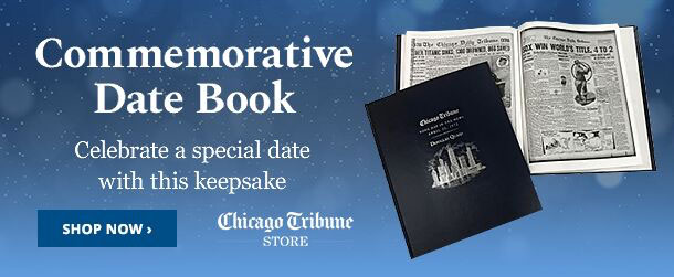 Holiday gift shop at the Chicago Tribune store